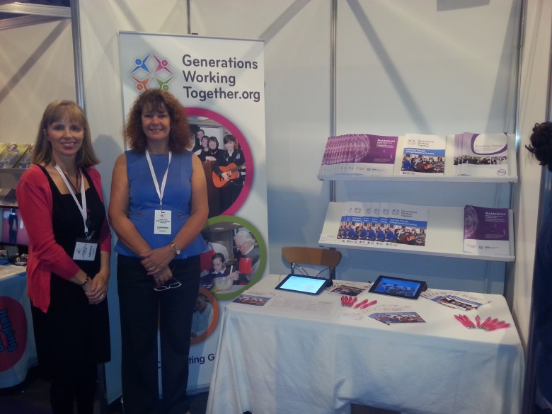 Alison & Yvonne at the Scottish Learning Festival, SECC, Glasgow, 2013