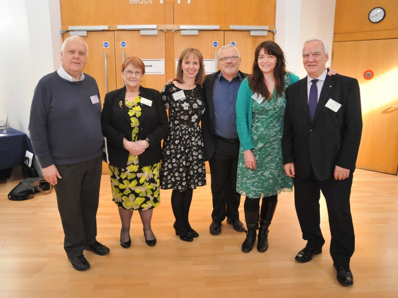 Here's the GWT team (Betty, Alison & Iain) with Alan Hatton-Yeo, Beth Johnson Foundation and Lynn and Ken, Linking Generations Northern Ireland