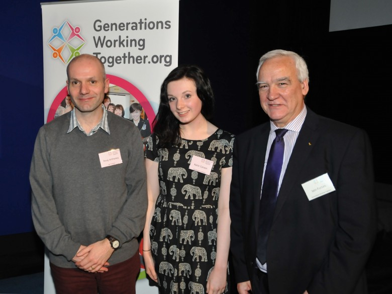 GWT Conference 2014 - Doug Anthoney (Age Scotland), Kate Coroon (Speaker) & Iain Forbes (Chair)