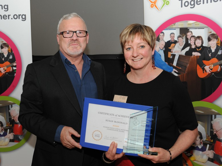 Congratulations to Susan McDonald (Renfrewshire) winner of the Yvonne Coull Local Network Coordinator Award