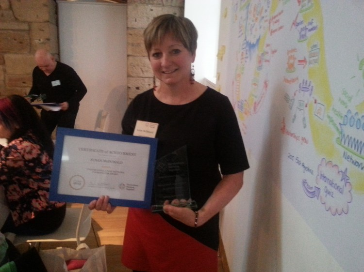 Yvonne Coull Local Network Coordinator Winner - Susan McDonald